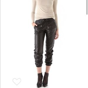 Juicy Couture Leather Track Pants SMALL